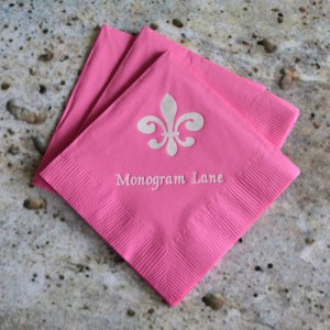 Monogram Lane napkin