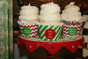 Custom Cupcake Wrappers Christmas 2