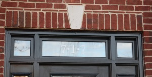 Glass Etch Decal on Transom Window