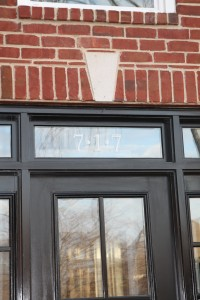 Glass Etch Vinyl Decal on Transom Window