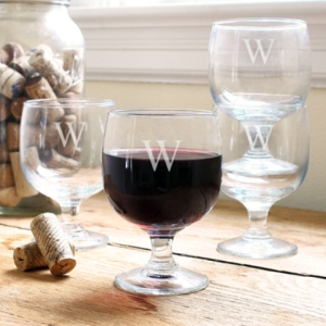 Low Stem Stackable Wine Glasses