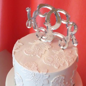 Acrylic Solid Cake Topper in Mirror finish