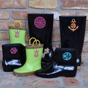 Monogram Boots