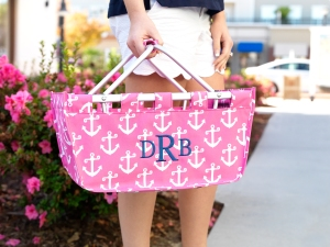 Hot Pink Anchor Market Tote
