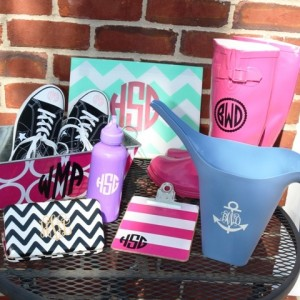 Monogram decals can go on just about anything!