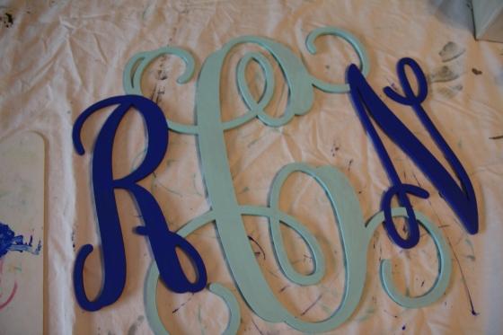 2 color monogram finished