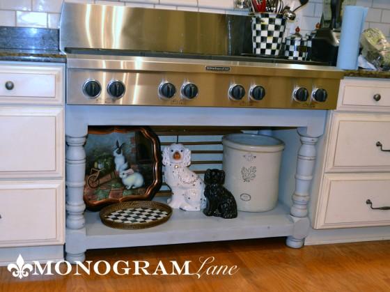 Kitchen cooktop base